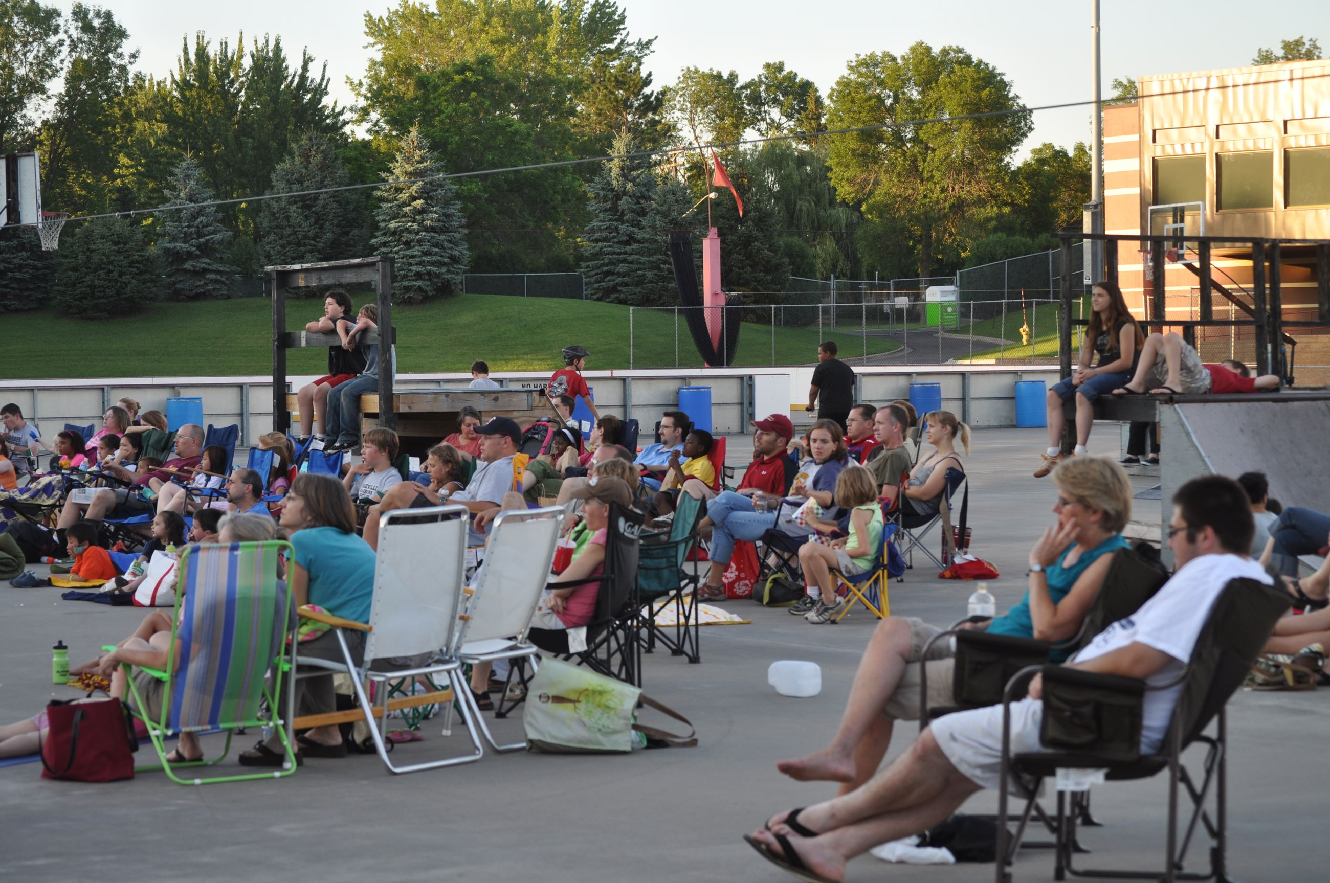 Patrons watch Movie at John Rose MN OVAL